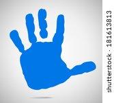 Silhouette Of Children's Hands...