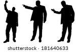 vector silhouette of... | Shutterstock .eps vector #181640633