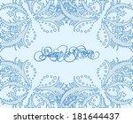 vector delicate lace corner... | Shutterstock .eps vector #181644437