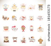 bakery icons set   isolated on... | Shutterstock .eps vector #181653173