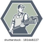 illustration of a plumber with...