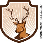 animal,antler,artwork,buck,cartoon,crest,deer,graphics,illustration,reindeer,shield,stag,wildlife