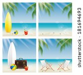 abstract different summer... | Shutterstock .eps vector #181694693