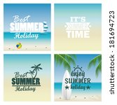abstract different summer... | Shutterstock .eps vector #181694723