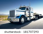 truck and highway at day  ... | Shutterstock . vector #181707293
