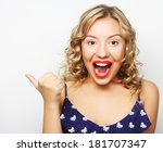 young pretty woman with her... | Shutterstock . vector #181707347
