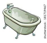 bathtub | Shutterstock .eps vector #181719467