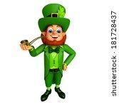 leprechaun stands with...   Shutterstock . vector #181728437