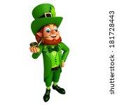 leprechaun stands with...   Shutterstock . vector #181728443