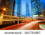 city road tunnels light trails... | Shutterstock . vector #181731887