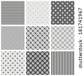seamless black  white and grey... | Shutterstock .eps vector #181741967
