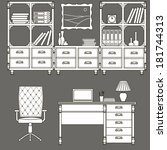 icons office furniture  | Shutterstock . vector #181744313