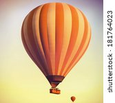 balloons in the sky over... | Shutterstock . vector #181764023