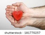 read heart in hand | Shutterstock . vector #181770257