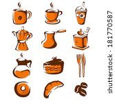 a vector illustration of coffee ... | Shutterstock .eps vector #181770587
