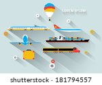 transportation  long shadow... | Shutterstock .eps vector #181794557