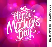happy mothers day typographical ... | Shutterstock .eps vector #181809803