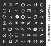 arrows set  | Shutterstock . vector #181829813