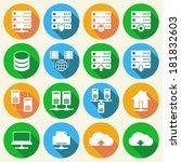 online internet hosting... | Shutterstock .eps vector #181832603