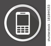 mobile phone black button vector