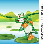 Illustration Of A Happy Frog...