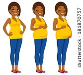beautiful african american... | Shutterstock . vector #181870757