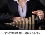 close up of businesswoman... | Shutterstock . vector #181873763