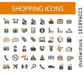 shopping icons. | Shutterstock .eps vector #181896023