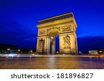 Arc De Triomphe At Twilight