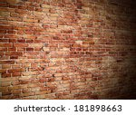 Angle View Of Red Brick Wall