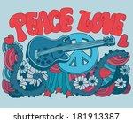 peace love music vector...