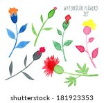 set of vector multicolored... | Shutterstock .eps vector #181923353