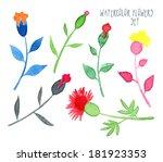 set of vector multicolored... | Shutterstock .eps vector #181923353