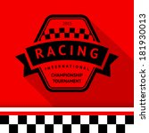racing stamp 09  vector... | Shutterstock .eps vector #181930013