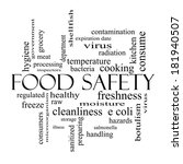 food safety word cloud concept... | Shutterstock . vector #181940507