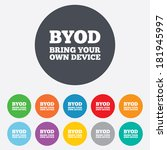 byod sign icon. bring your own...   Shutterstock .eps vector #181945997