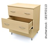 chest of drawers isolated on a... | Shutterstock . vector #181953113
