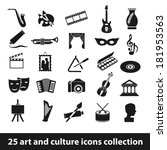 25 art and culture icon...   Shutterstock .eps vector #181953563
