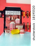 counter has commercial sized... | Shutterstock . vector #18195520