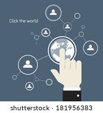 network concept | Shutterstock .eps vector #181956383