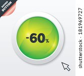 60 percent discount sign icon....