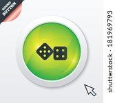 dices sign icon. casino game...