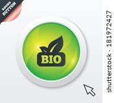 bio product sign icon. leaf...