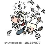 cash cow   business cartoon | Shutterstock .eps vector #181989077