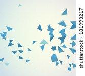 Abstract Random Blue Triangles...