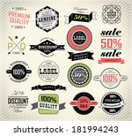 set of vintage retro premium... | Shutterstock . vector #181994243