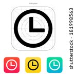 time and clock icon.