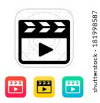 clapper board icon.