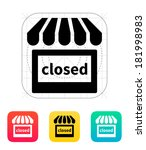 shop closed icon.