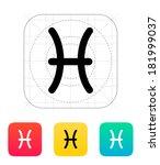 pisces zodiac icon | Shutterstock . vector #181999037